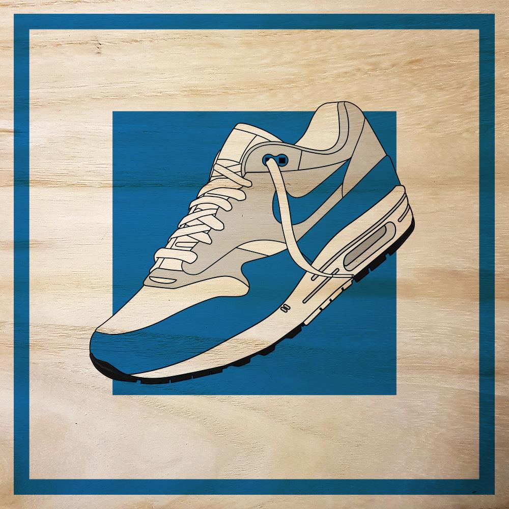 Nike Air Max 1 OG Blue Brett Druck